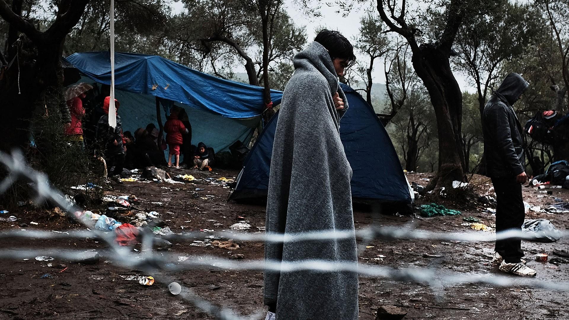 اللاجئون السوريون في اليونان