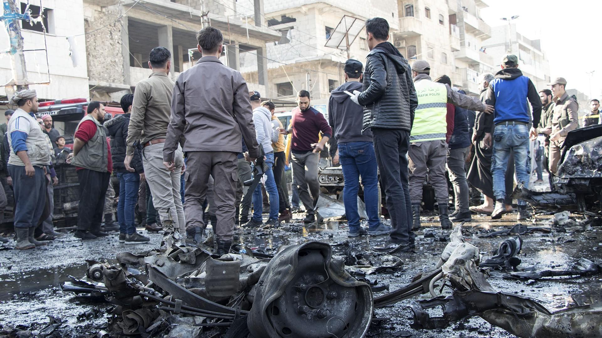 سوريا .. تفجير في مدينة الباب