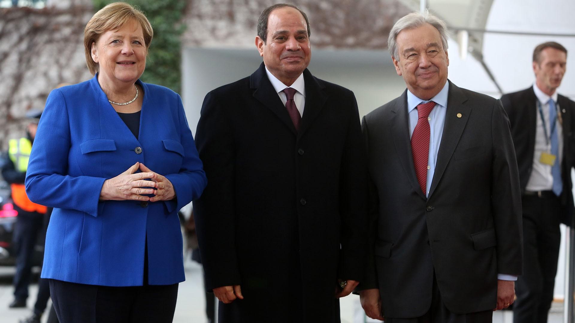 السيسي يشارك في مؤتمر برلين الخاص بالأزمة الليبية
